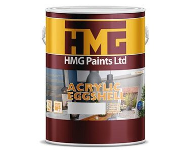 Acrylic Eggshell Paint - For Walls, Ceilings, Bathrooms and Medium to High traffic areas.
