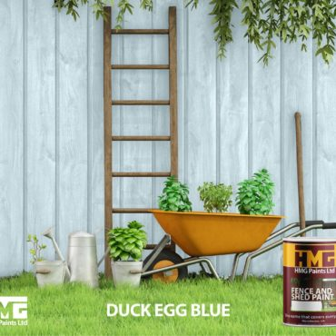Duck Egg Blue Fence and Shed Paint - HMG Paints