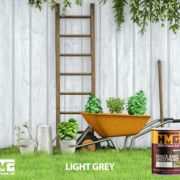 Light Grey Fence and Shed Paint - HMG Paints