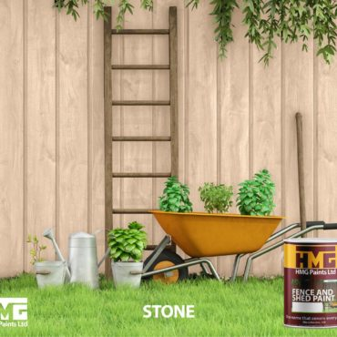 Stone Coloured Fence and Shed Paint - HMG Paints
