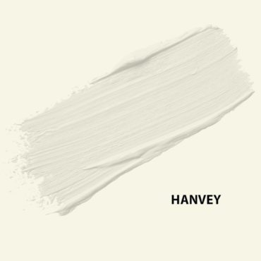 HMG Paints - Hanvey - A shining off white shade, brightening any space it graces. Named after dedicated employee Ronnie Hanvey who served as at HMG Paints since its inception as a 15-year-old boy during the first World War.