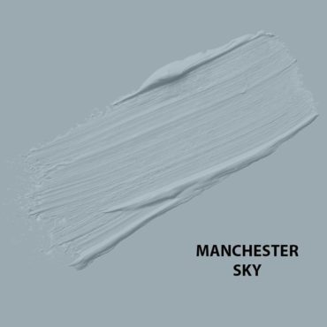 HMG Paints - Manchester Sky - Stemming from the world's perception of Manchester as Britain's rainiest city, this greyish blue shade depicts the iconic rainy skies of Manchester.